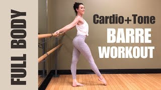 Full Body Barre Workout | CARDIO & TONING | Low Impact | 40 mins+Stretch | Home workout