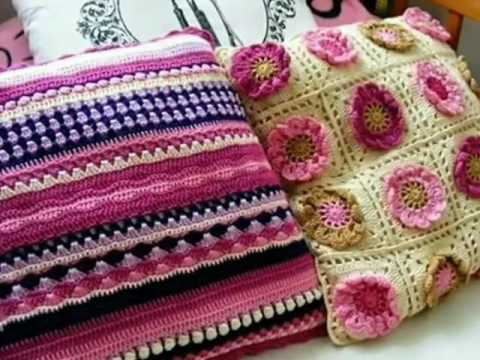 Crochet Cushion Cover Pattern Youtube