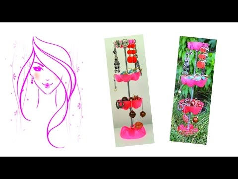 MORENA DIY: HOW TO MAKE ROOM DECOR /  DIY JEWELRY STAND / DIY PLASTIC BOTTLE JEWELRY STAND