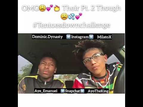 *BEST* Ten toes down challenge Pt. 2 ( Milo & Dom )