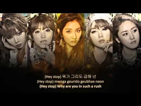 4 Minute - What's your name ~ lyrics on screen KOR/ROM/ENG