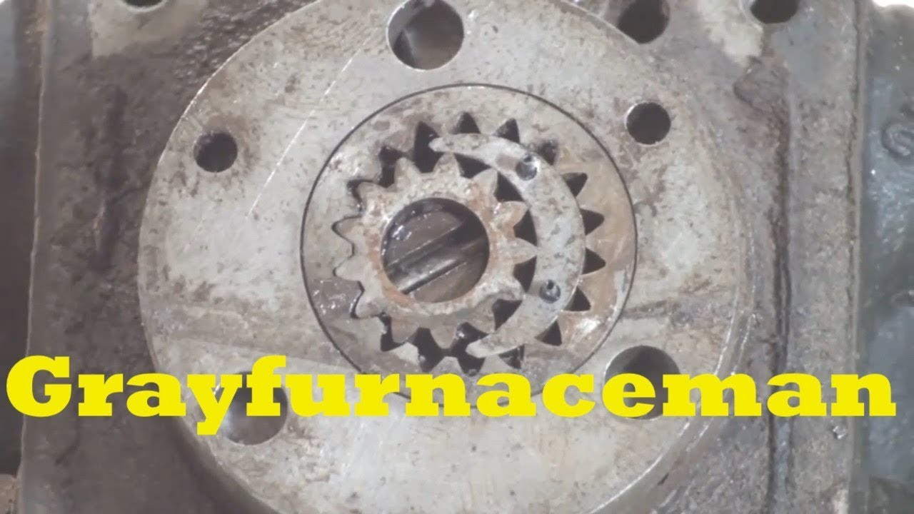 Oil furnace pump autopsy - YouTube