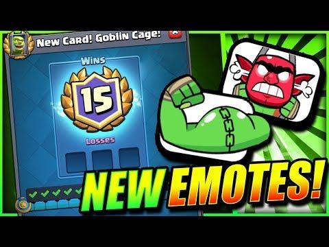 NEW EMOTES & NEW CARD UNLOCKED!! 15 WINS CHALLENGE!!