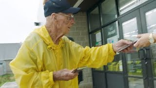 Why This 94-Year-Old Veteran Hands Out Chocolate Candy Bars To Strangers
