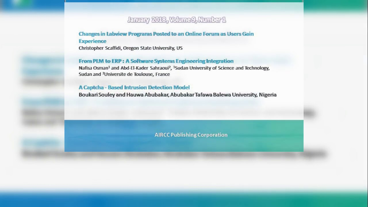 International Journal Of Software Engineering Applications IJSEA