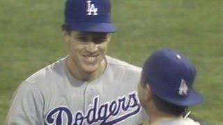 LAD@SF: Orel shutout streak at five games, 49 innings(9/23/88: Orel Hershiser's scoreless streak reaches five consecutive games and 49 innings in a 3-0 shutout over the Giants Check out http://m.mlb.com/video for ..., 2015-11-24T22:45:13.000Z)