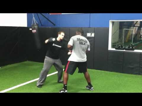 Sam Acho cross training at Ignition