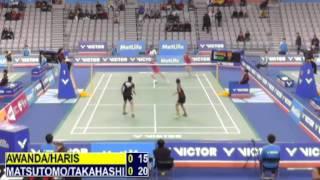 R32 - WD - M.Matsutomo / A.Takahashi vs A.S.Awanda / D.D.Haris - 2014 Korea Badminton Open
