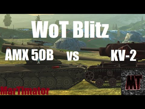 AMX 50B Vs KV-2: Face The Derp #16