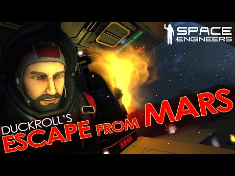 Space Engineers - ESCAPE FROM MARS! 'Hardcore' Roleplay Scenario w/ Suit AI & Enemy Factions