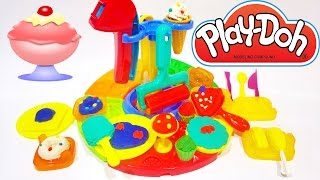 Huge Play Doh Ice Cream Cake Cupcakes Desserts Cookies Toys Playset ★ Play Dough Videos for Children