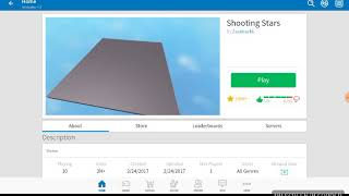 Shooting star in roblox