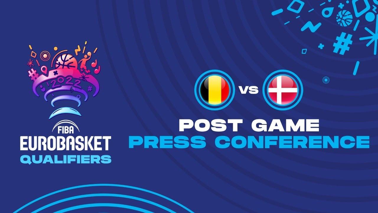 Belgium v Denmark - Press Conference - FIBA EuroBasket Qualifiers 2022