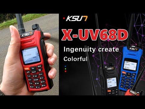 KSUN X-UV68D 8 WATT RADIO - 999 CHANNEL VHF/UHF WALKIE TALKIE