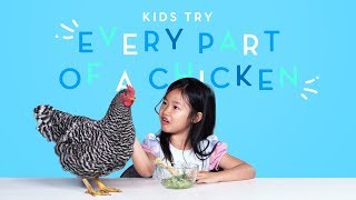 Kids Try Every Part of a Chicken | Kids Try | HiHo Kids