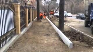 Шахматный сквер(Отчет 26 от 3 ноября 2014 г. Подготовка основания и установка бордюрного камня на тротуарах прилегающих к скверу., 2014-11-19T16:19:43.000Z)