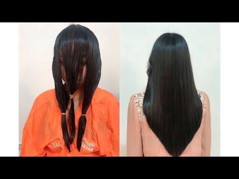Cortar pelo en v sin capas