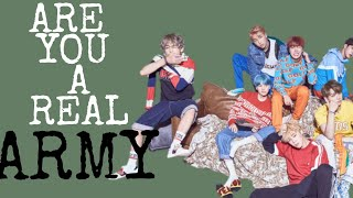 Are you a real ARMY ?
