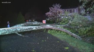 Tornado touches down in Reston, destroys home and takes out trees