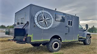 23 year old Builds 900hp Overland Camper 4x4 Ambulance Conversion GMC Kodiak Turbo Diesel