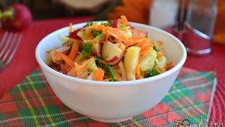 Салат из капусты, моркови и редиса