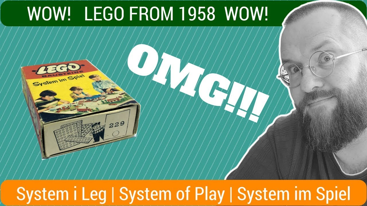 LEGO 1958 year of manufacture - SET #229 - SYSTEM OF PLAY - BOX 60 ...