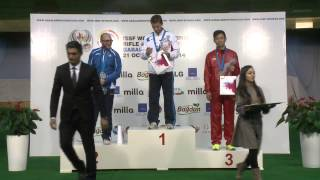 Podium and Interview with Nazar LOUGINETS (RUS) - ISSF World Cup Final 2014, Gabala (AZE)