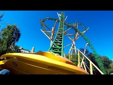 Cheetah Hunt Roller Coaster POV 60fps Busch Gardens Tampa