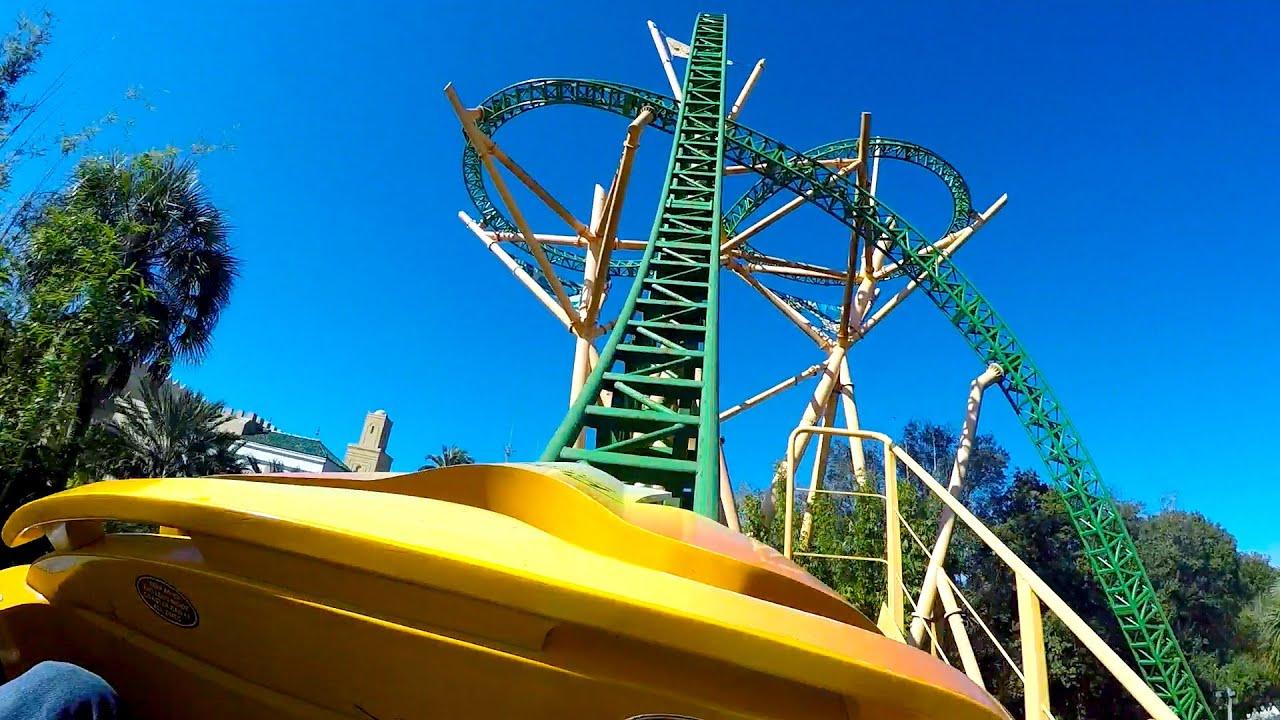 Cheetah Hunt Roller Coaster POV 60fps Busch Gardens Tampa   YouTube
