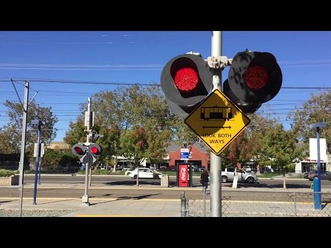 Railroad Crossings UPRR Runs Through Shares and Along Side SACRT Light Rail Gold Line 4K Sub Special