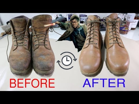 [ASMR] Clean & restore TIMBERLAND Leather 6inch Yellow  -VeTiVeR