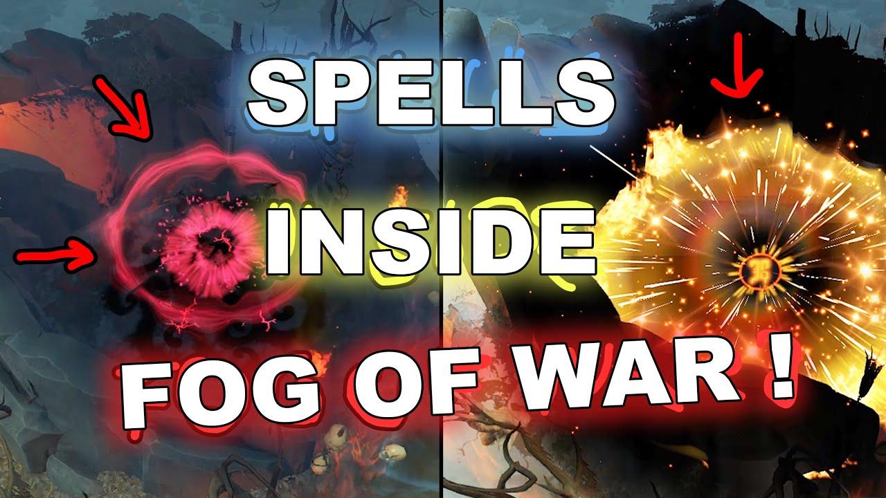 Dota 2 Tricks: SPELLS INSIDE FOG OF WAR! 7.27c