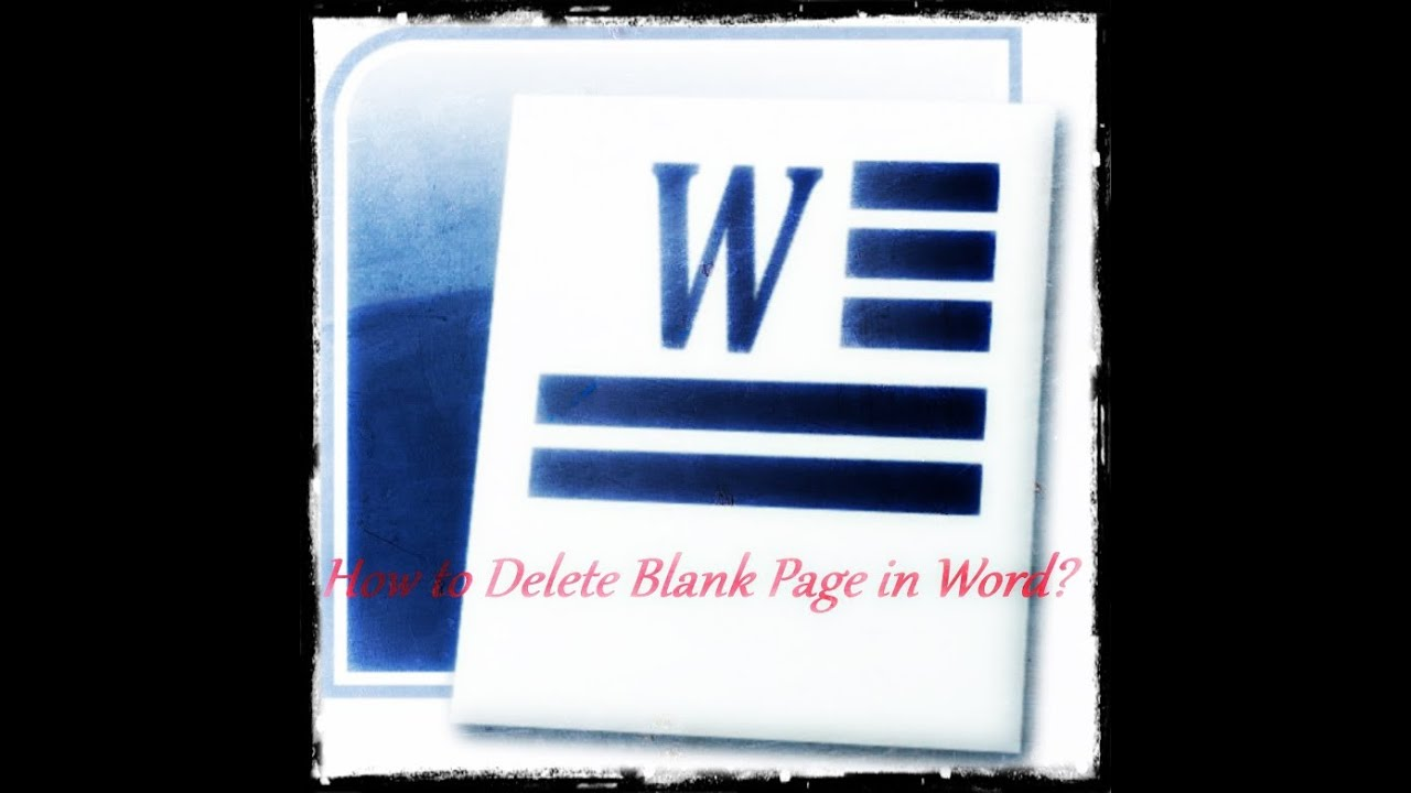 How to delete blank page in word youtube ccuart Images