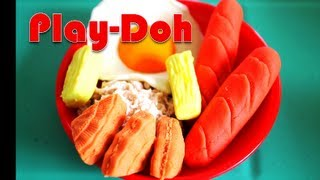 Play-doh Foods Eggs Chocolate Hotdog Cheese Breakfast Treat Play Doh Kids' Toys