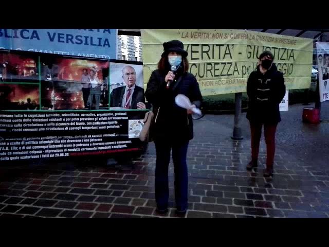 Verità e giustizia per Viareggio, presidio a Pisa 28 gennaio 2021. Intervento di Giusi Di Pietro