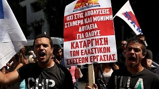 Greece: Anti-austerity protesters denounce