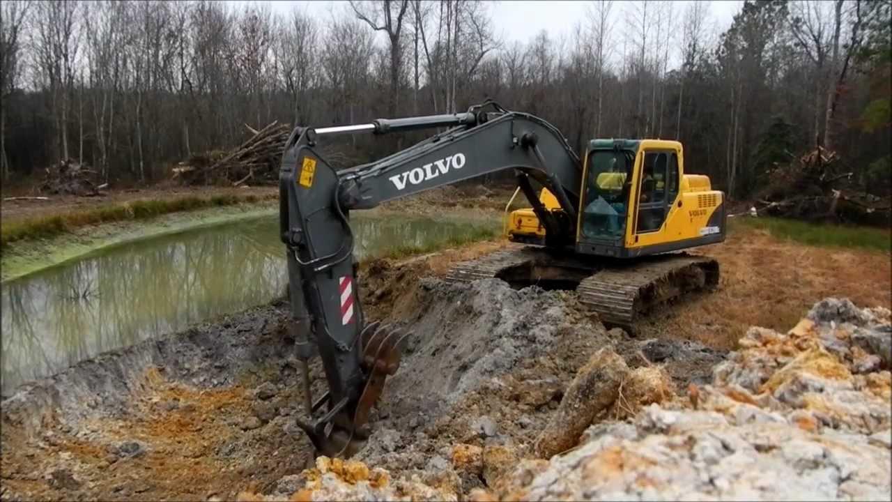 Volvo 210 Excavator Extending Pond Youtube