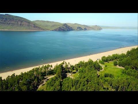 Потрошиловский бор, река Енисей и гора Тепсей. Лето 2017