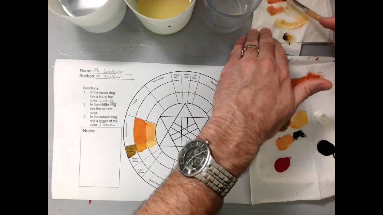 Color Wheel Tints and Shades Orange Spectrum (Part 1/3)