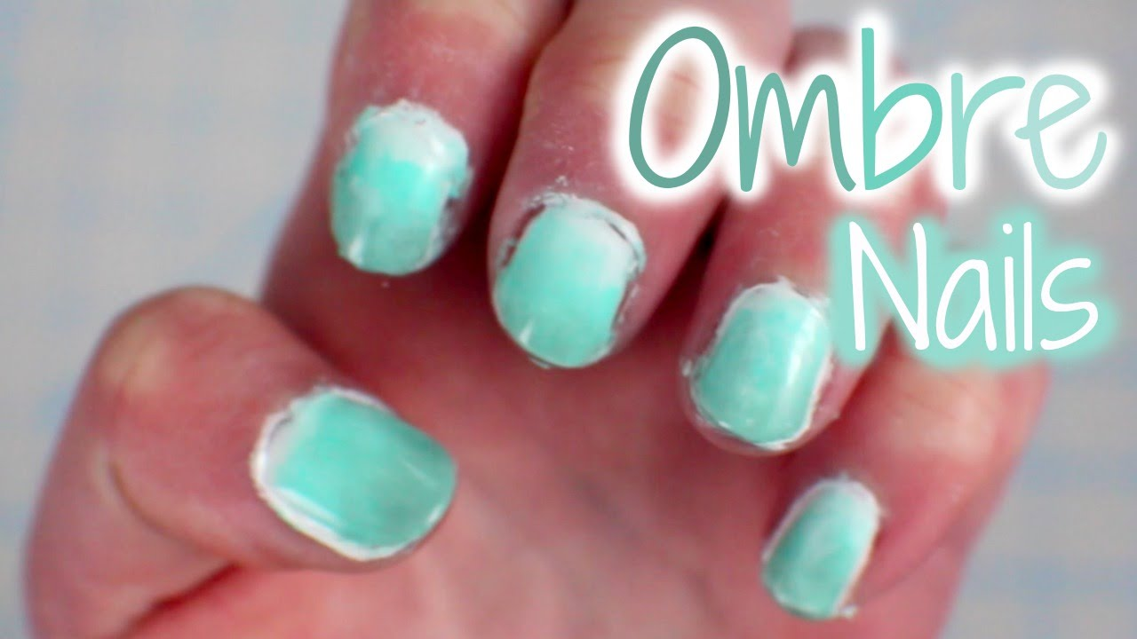 Ombre Nails Using A Sponge