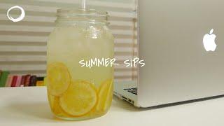 여름 한 모금 : 지금 내가 마시는 것 (?레몬청+?설…