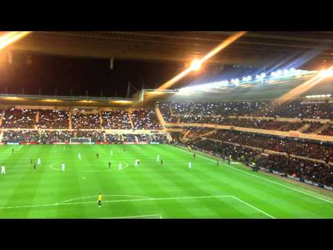 Phone lights lit up the Riverside, England U21s Vs Germany U21s