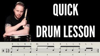 Intermediate Groove In 7/8  - Drum Lesson w/ whelandrums