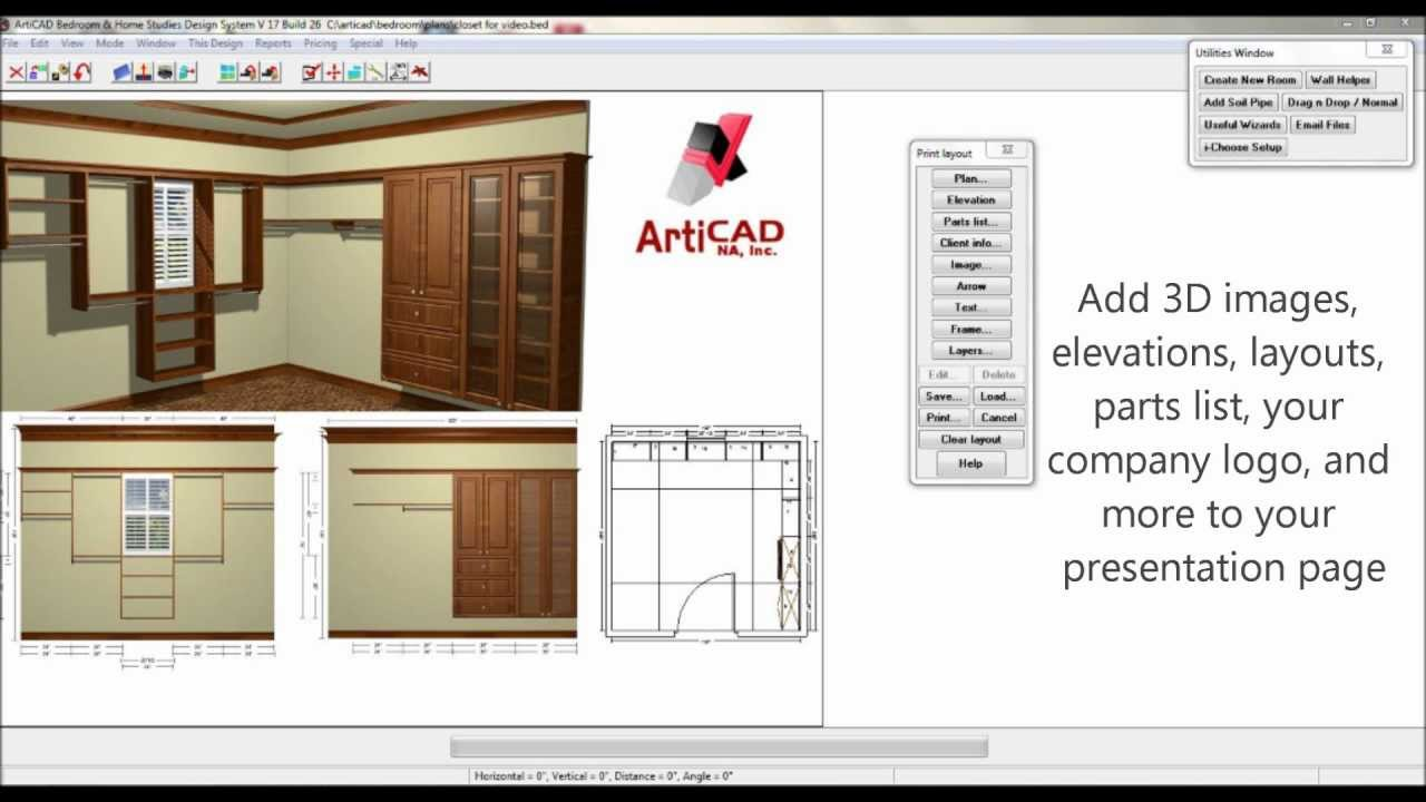 Articad Closet Design Advantages Youtube