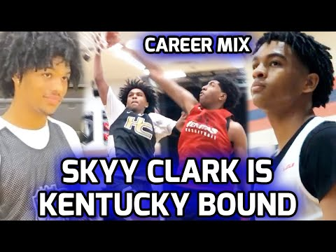 5 STAR Point Guard Skyy Clark Commits To KENTUCKY! Full High School Career Mixtape