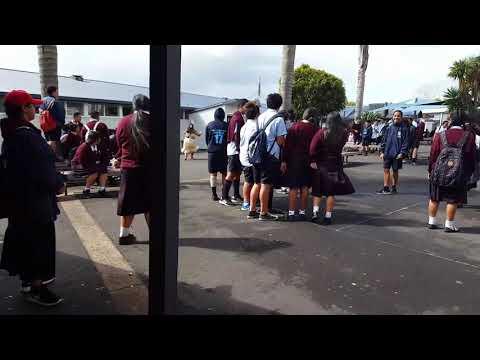 Tongan language week at tamaki college. My niece being a true tongan chick. MAFANA'S KI AI GIRL😍
