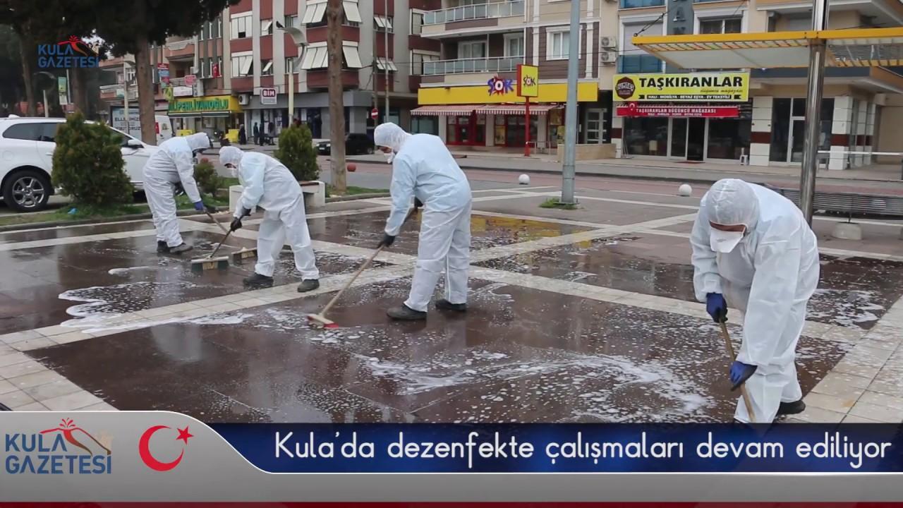 Kula'da dezenfekte çalışmaları devam ediliyor