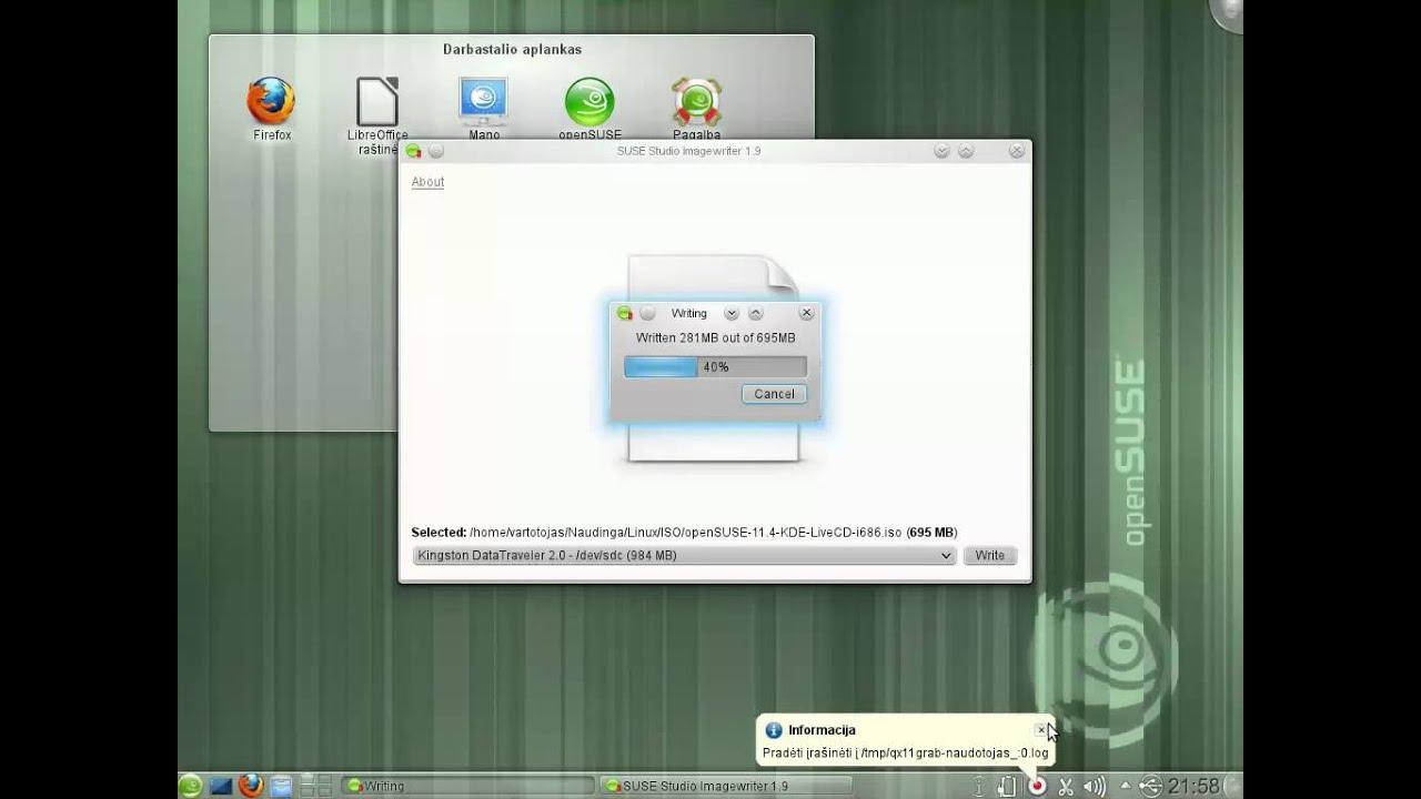 LiveUSB gamyba Linux sistemoje