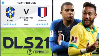 DLS 21 Final Dream League Soccer 2021 International Cup Brazil vs France