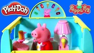 PLAY DOH Peppa's Ice Cream Van Playset from Nickelodeon Peppa Pig Learn to Make Ice Cream Cones